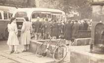 Evacuees Leaving Disley August 1945