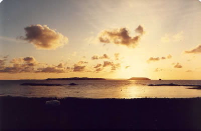Sunrise over Herm